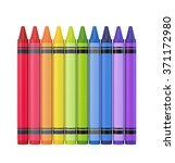 Colourful Crayons. Isolated On...