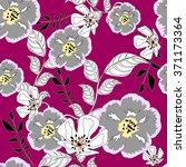 seamless vintage flower... | Shutterstock .eps vector #371173364