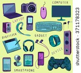 set of hand drawn gadget icons... | Shutterstock . vector #371178323