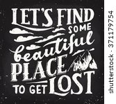 let's find some beautiful place ... | Shutterstock .eps vector #371179754