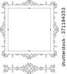square baroque frame   Shutterstock .eps vector #371184353