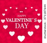happy valentine's day card... | Shutterstock . vector #371187644