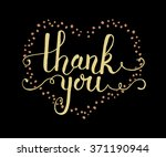 hand sketched thank you text.... | Shutterstock .eps vector #371190944