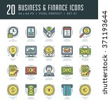 line icons set. trendy modern... | Shutterstock .eps vector #371193644