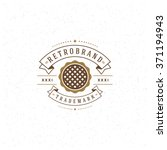 bakery shop logo template.... | Shutterstock .eps vector #371194943