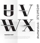 elegant typographic alphabet in ... | Shutterstock .eps vector #371195249