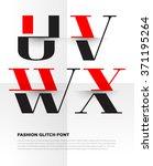 elegant typographic alphabet in ... | Shutterstock .eps vector #371195264