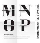elegant typographic alphabet in ... | Shutterstock .eps vector #371195306