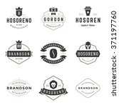 vintage logos design templates... | Shutterstock .eps vector #371197760
