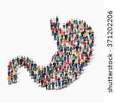 a large group of people in the... | Shutterstock .eps vector #371202206