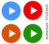 play round multimedia button... | Shutterstock . vector #371222623