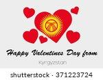 a valentines flag illustration...   Shutterstock .eps vector #371223724
