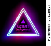Neon Abstract Triangle. Glowin...