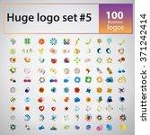 large logo set. mega collection ... | Shutterstock .eps vector #371242414