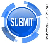 submit blue glossy circle... | Shutterstock . vector #371246200
