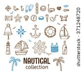 Hand Drawn Nautical Collection. ...