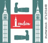 london icon design  | Shutterstock .eps vector #371251648