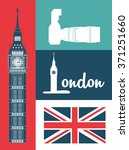 london icon design  | Shutterstock .eps vector #371251660