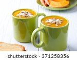 vegetarian pumpkin and carrot... | Shutterstock . vector #371258356