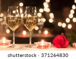 romantic dinner setting.  | Shutterstock . vector #371264830