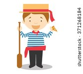 character from italy dressed in ... | Shutterstock .eps vector #371268184