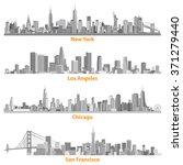 set of urban cities of new york ... | Shutterstock .eps vector #371279440