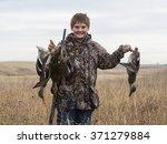 young duck hunter | Shutterstock . vector #371279884
