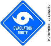 hurricane evacuation route | Shutterstock .eps vector #371282350