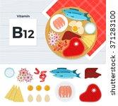 vitamin b12 vector flat... | Shutterstock .eps vector #371283100