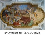 Fresco On Ceiling Of Church Of...