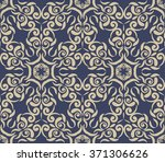vintage blue background with... | Shutterstock .eps vector #371306626