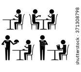 diner with various activities... | Shutterstock .eps vector #371308798