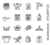 laundry icons. housework icons. ...   Shutterstock .eps vector #371309713