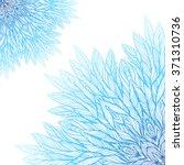 two blue mandala  a circular... | Shutterstock .eps vector #371310736