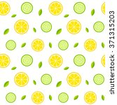 seamless texture with lemons ... | Shutterstock .eps vector #371315203