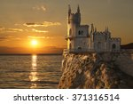 swallow's nest castle on the... | Shutterstock . vector #371316514
