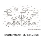 linear air electric station ... | Shutterstock .eps vector #371317858
