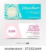 gift voucher template   vector   Shutterstock .eps vector #371321644