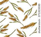 organic rice seamless pattern ...   Shutterstock .eps vector #371323330