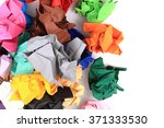 Crumpled Color Papers Isolated...