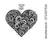 black floral ornate in the... | Shutterstock .eps vector #371337526