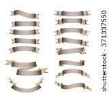 blank ribbon vintage brown... | Shutterstock .eps vector #371337550