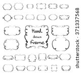 hand drawn frame vector element ... | Shutterstock .eps vector #371337568