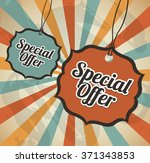 special offer design  | Shutterstock .eps vector #371343853