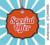 special offer design  | Shutterstock .eps vector #371344000