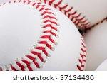 closeup of group of baseballs   Shutterstock . vector #37134430