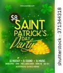 creative green pamphlet  banner ... | Shutterstock .eps vector #371344318