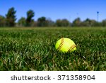 Softball At A Field In...