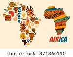 Vector Set Of Stylized African...