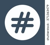 hashtags icon | Shutterstock .eps vector #371363479
